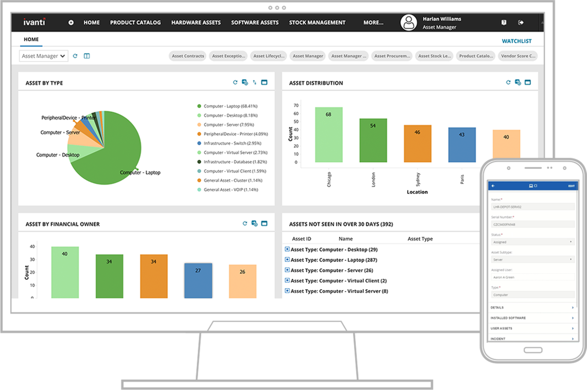 ivanti asset manager screenshot